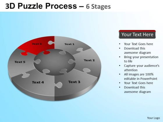 PowerPoint Template Download Jigsaw Pie Chart Ppt Backgrounds