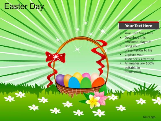 PowerPoint Template Easter Eggs Easter Day Ppt Theme