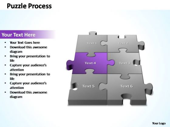 PowerPoint Template Editable 3d Puzzle Process Ppt Slides