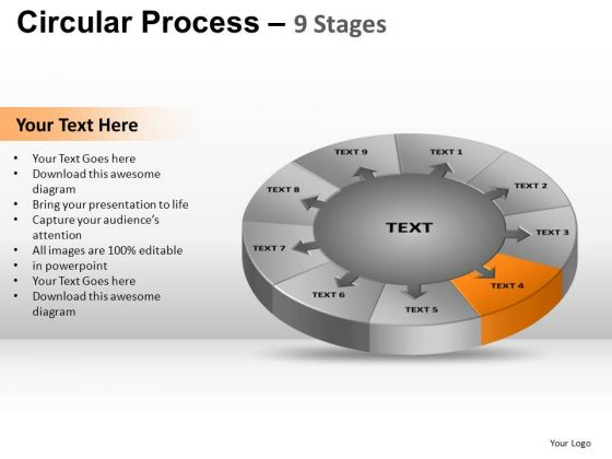 PowerPoint Template Editable Circular Process Ppt Slidelayout