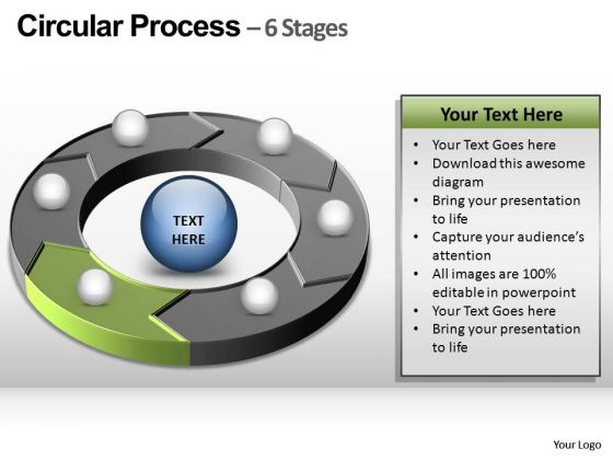 PowerPoint Template Editable Circular Process Ppt Theme
