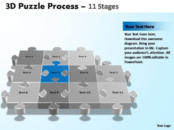 PowerPoint Template Editable Puzzle Process Ppt Theme