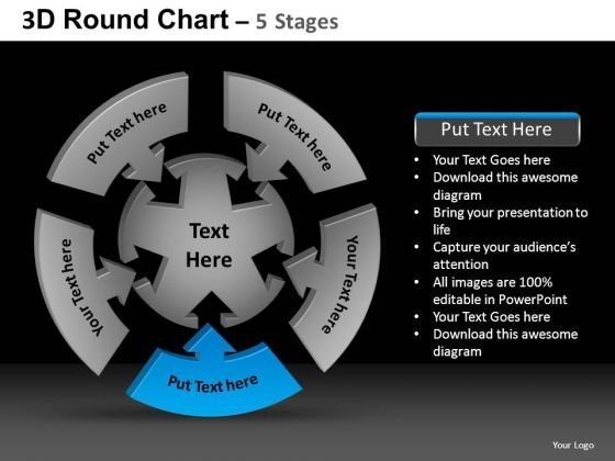 PowerPoint Template Editable Round Chart Ppt Presentation