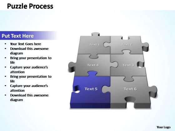PowerPoint Template Education 3d Puzzle Process Ppt Slides