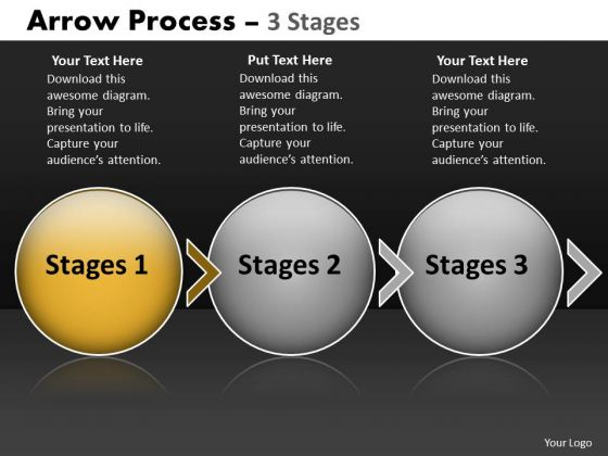 PowerPoint Template Evolution Of Three Stages Circular 3d Arrows Business Image