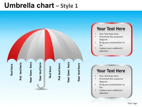 Powerpoint Template Executive Leadership Targets Umbrella Chart