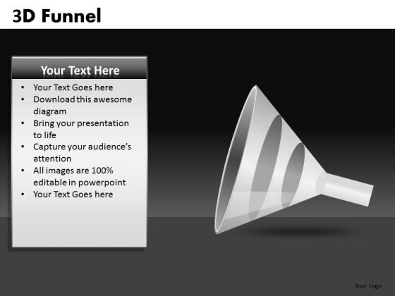 PowerPoint Template Funnel Graphic PowerPoint Slides