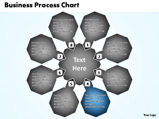 PowerPoint Template Global Business Process Chart Ppt Template