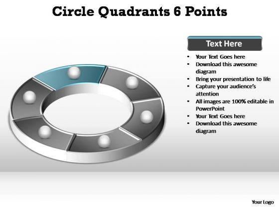 PowerPoint Template Global Circle Quadrants Ppt Template