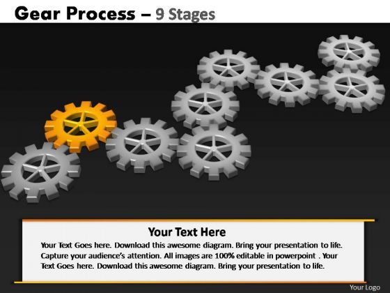 PowerPoint Template Global Gears Process Ppt Template