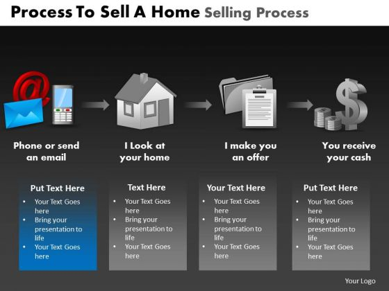 PowerPoint Template Global Home Selling Process Ppt Slides