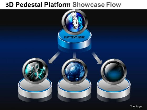 PowerPoint Template Global Pedestal Platform Showcase Ppt Layout