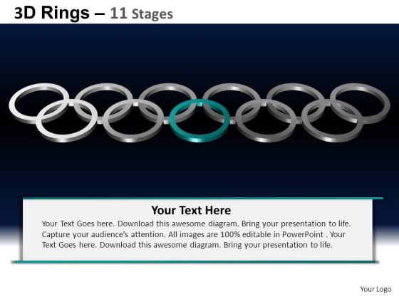 PowerPoint Template Global Rings Ppt Backgrounds