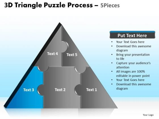 PowerPoint Template Global Triangle Puzzle Ppt Slide