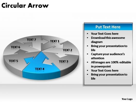 PowerPoint Template Graphic Circular Arrow Ppt Slides