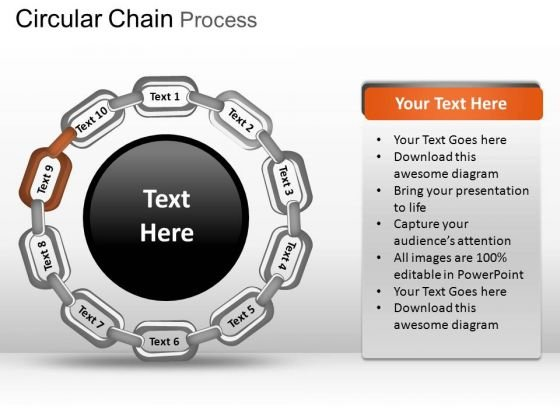 PowerPoint Template Graphic Circular Chain Ppt Slidelayout
