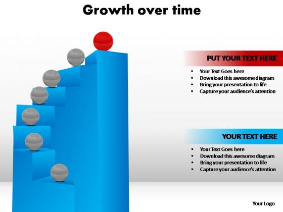 PowerPoint Template Graphic Growth Over Time Ppt Slides