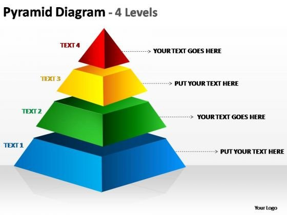 PowerPoint Template Graphic Pyramid Diagram Ppt Slide