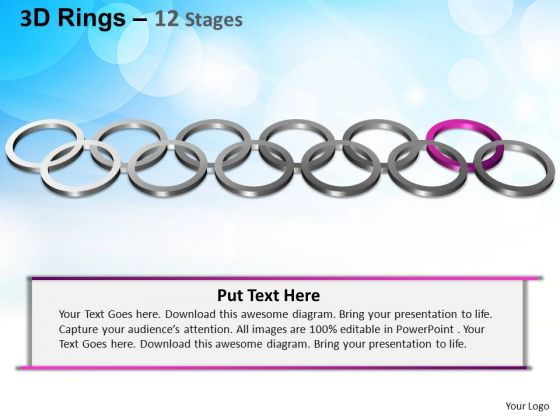 PowerPoint Template Graphic Rings Ppt Themes