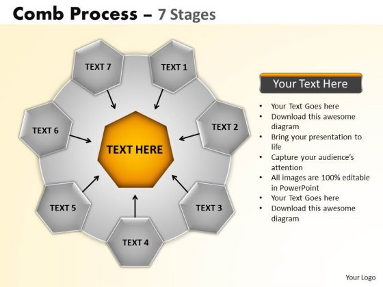 PowerPoint Template Graphic Wheel And Spoke Process Ppt Theme
