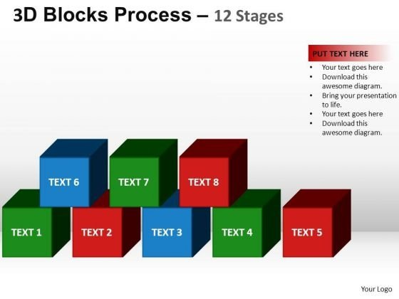 PowerPoint Template Growth Building Blocks Ppt Slides