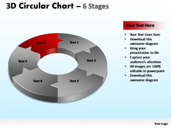 PowerPoint Template Growth Circular Chart Ppt Template