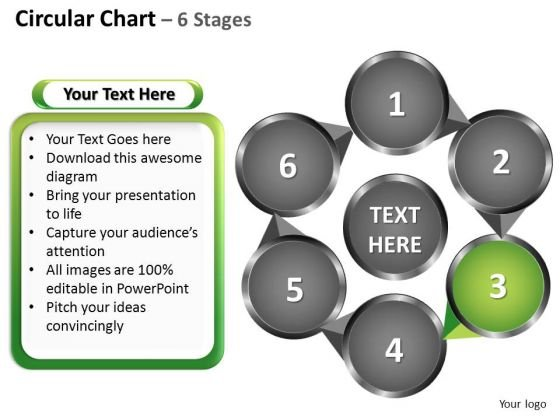 PowerPoint Template Growth Circular Ppt Process
