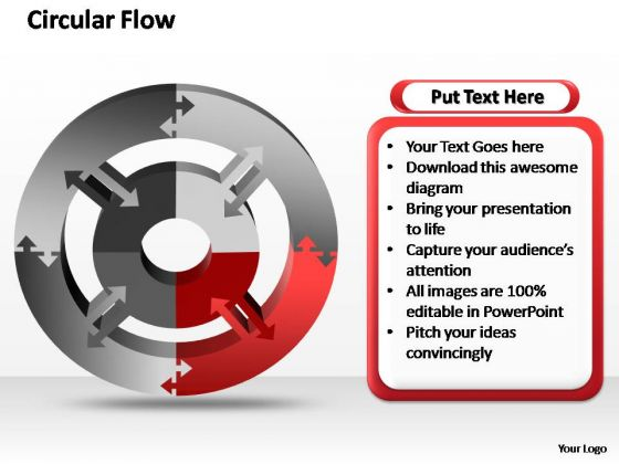 PowerPoint Template Growth Circular Ppt Templates