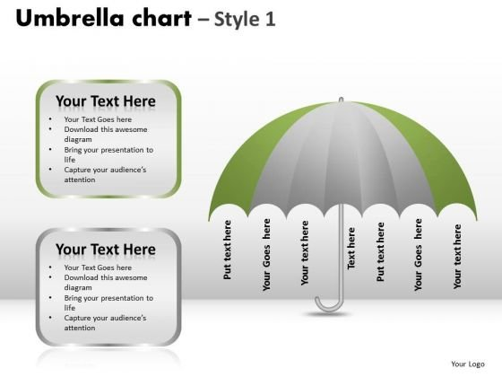 PowerPoint Template Growth Umbrella Chart Ppt Process