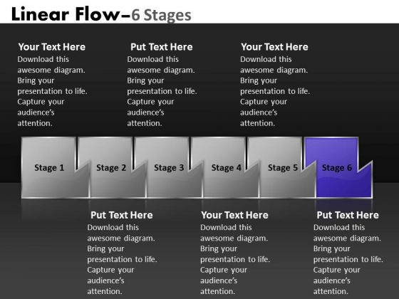 PowerPoint Template Illustration Of Six Sequential Steps Process Image