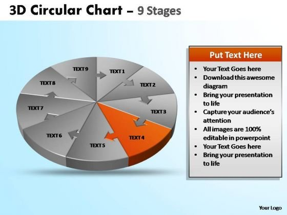 PowerPoint Template Image Circular Ppt Design