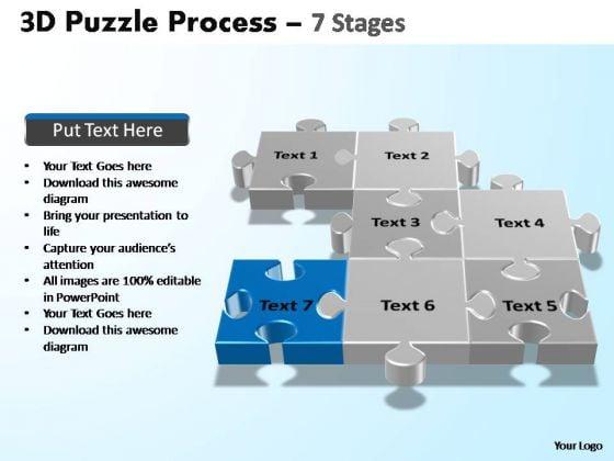 PowerPoint Template Image Puzzle Process Ppt Design Slides