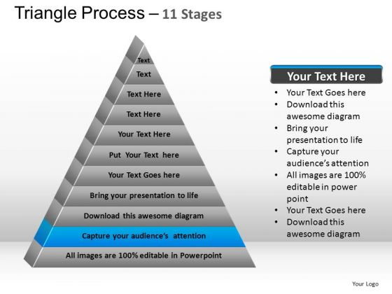 PowerPoint Template Image Triangle Process Ppt Backgrounds