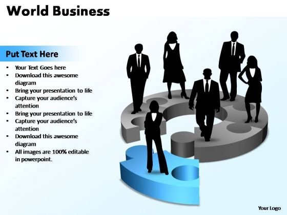 PowerPoint Template Image World Business Ppt Slides