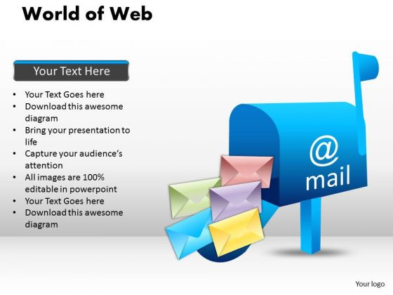 PowerPoint Template Image World Of Web Ppt Theme