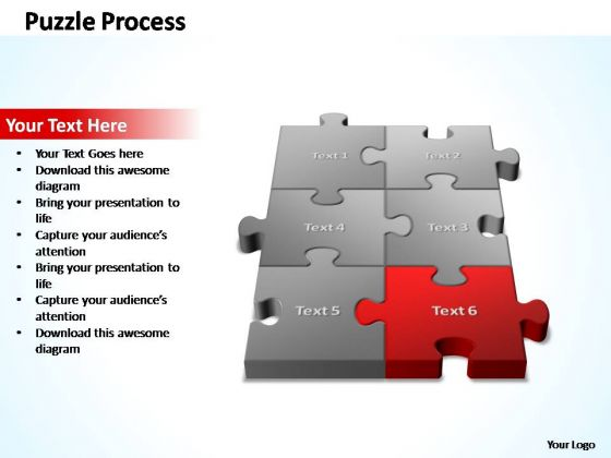 PowerPoint Template Leadership 3d Puzzle Process Ppt Slides