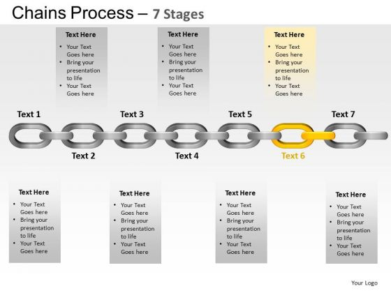 PowerPoint Template Leadership Chains Process Ppt Theme