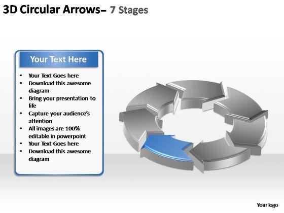 PowerPoint Template Leadership Circular Arrows Ppt Slide