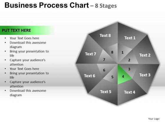 PowerPoint Template Leadership Circular Quadrant Ppt Theme