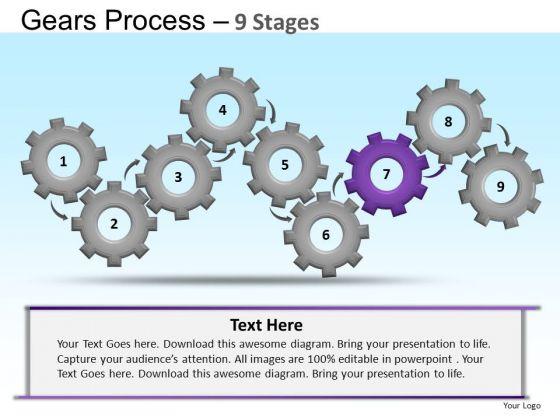 PowerPoint Template Leadership Gears Ppt Designs