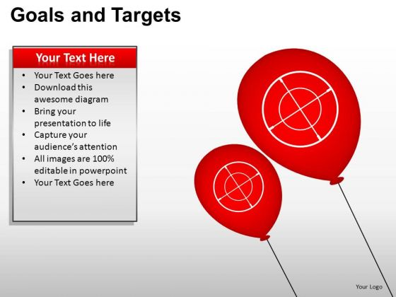 PowerPoint Template Leadership Goals And Targets Ppt Design