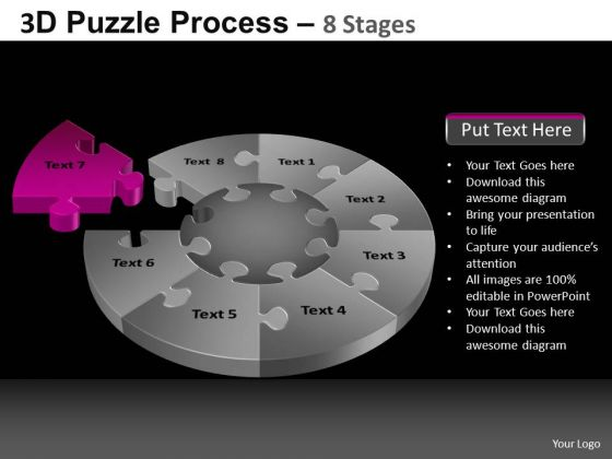 PowerPoint Template Leadership Pie Chart Puzzle Process Ppt Layouts