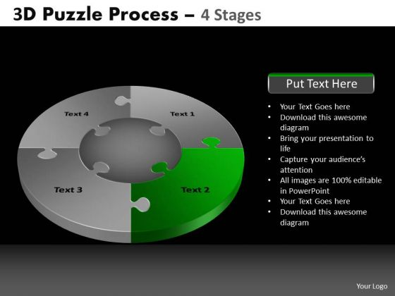 PowerPoint Template Leadership Pie Chart Puzzle Process Ppt Slidelayout