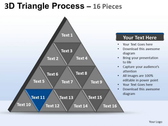 PowerPoint Template Leadership Triangle Process Ppt Slide