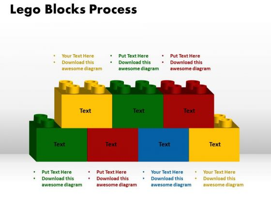 PowerPoint Template Lego Blocks Process Sales Ppt Slides