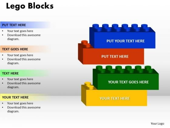 powerpoint template lego blocks teamwork ppt slide designs