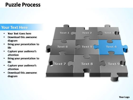 PowerPoint Template Marketing 3d Puzzle Process Ppt Slide