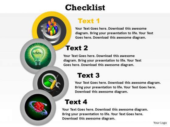 PowerPoint Template Marketing Checklist Ppt Templates