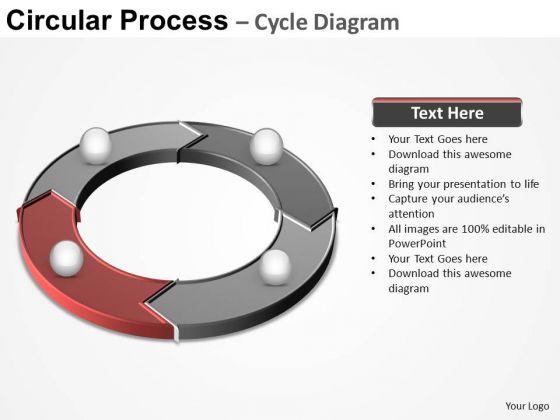 PowerPoint Template Marketing Circular Process Ppt Presentation