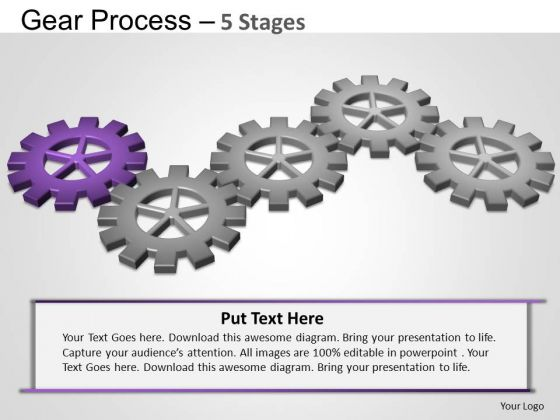 PowerPoint Template Marketing Gears Process Ppt Design